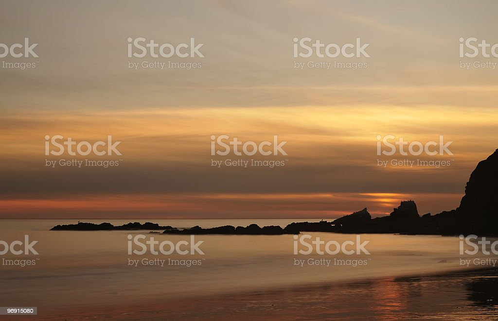 Evening at Rocky Coastline royalty-free stock photo