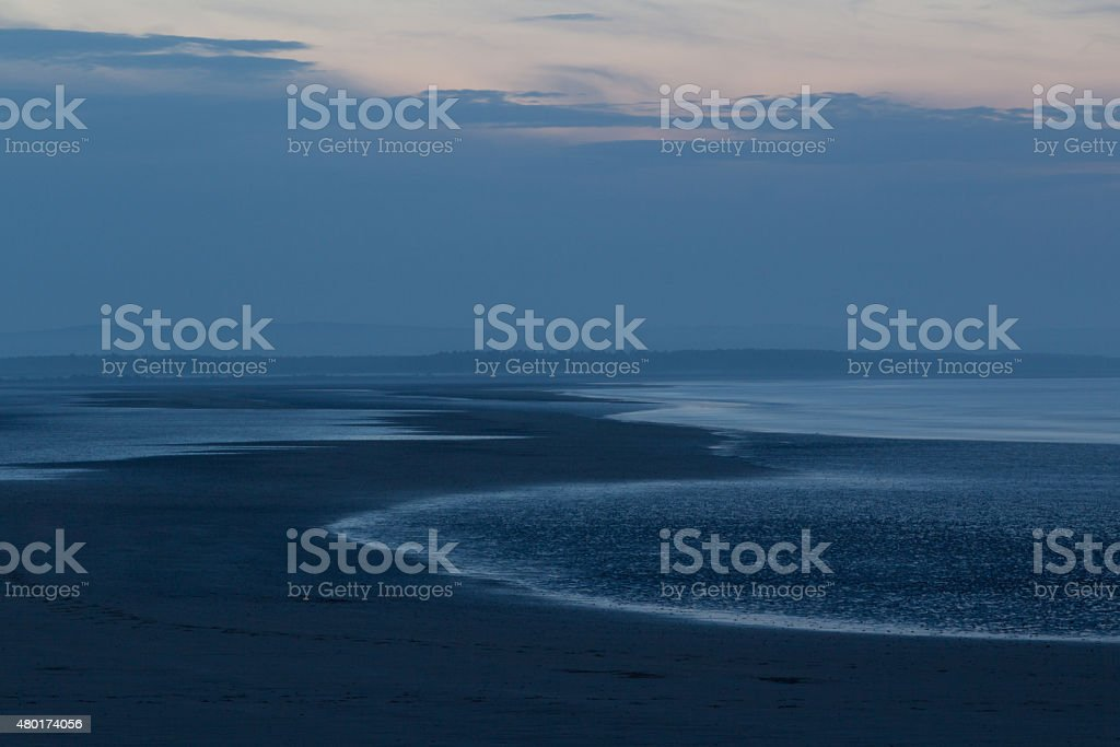 Evening at the beach of St. Andrews stock photo