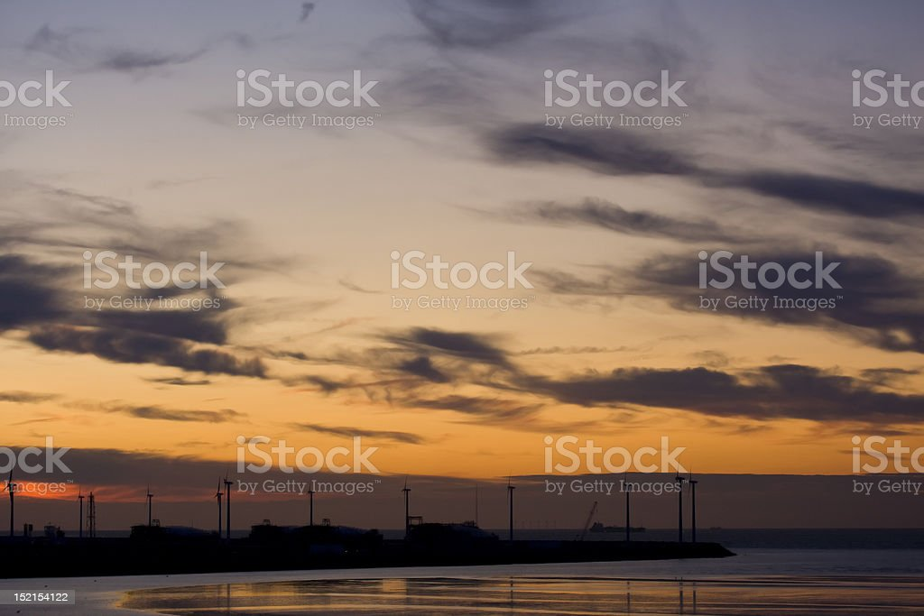 Evening at the beach royalty-free stock photo