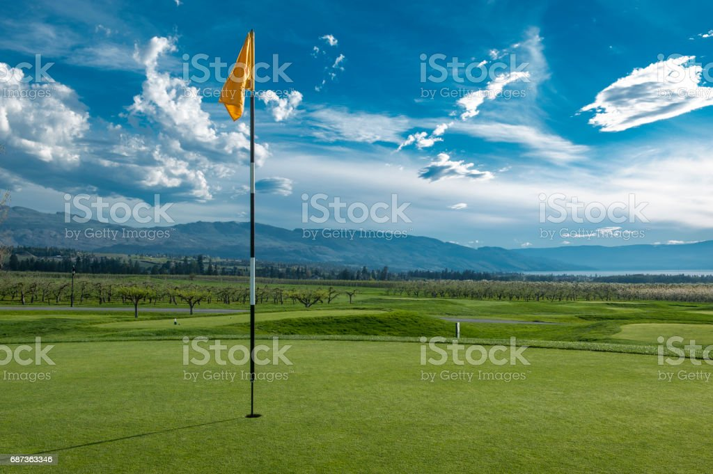 Evening at the Golf Club stock photo