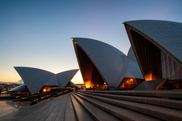 Evening At The Sydney Opera House stock photo