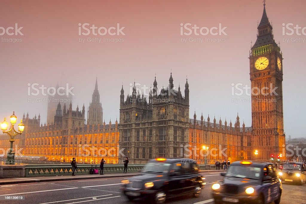 Evening at Westminster bridge royalty-free stock photo