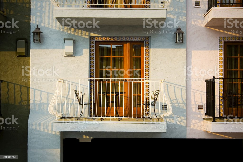 Evening Balcony royaltyfri bildbanksbilder