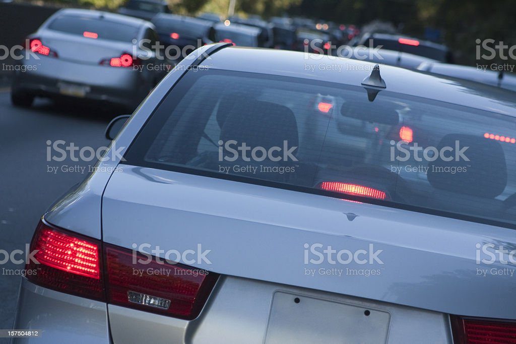 Evening Brake Lights royalty-free stock photo