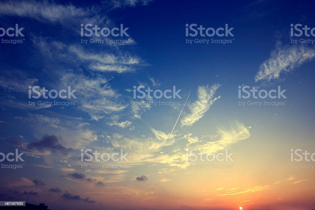 Evening cloud stock photo