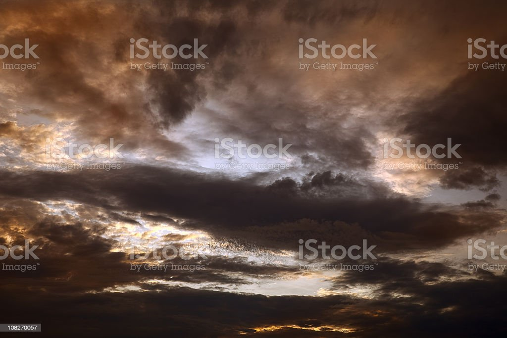 evening clouds royalty-free stock photo
