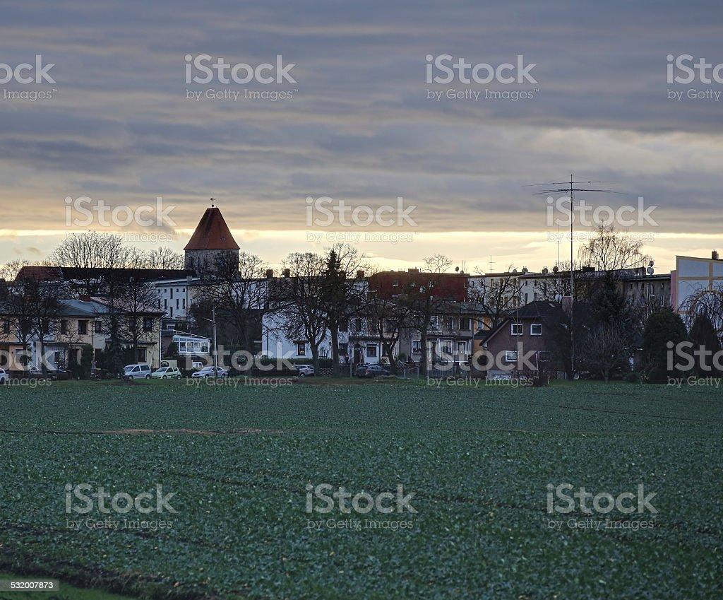 Evening Cloudscape Over Ottersleben stock photo