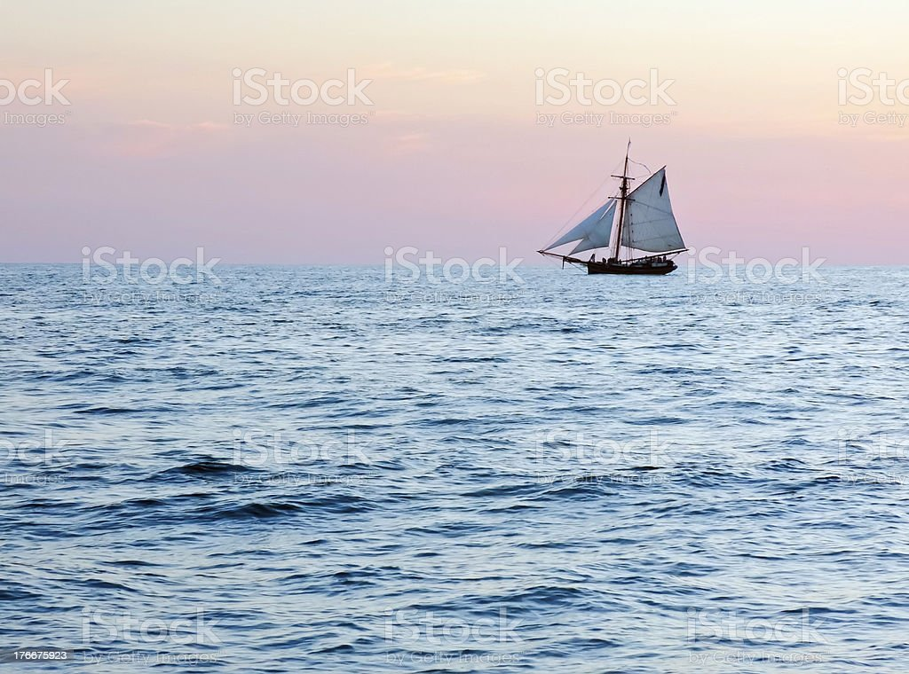 Evening cruise in summer royalty-free stock photo