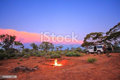 Campfire in the bush