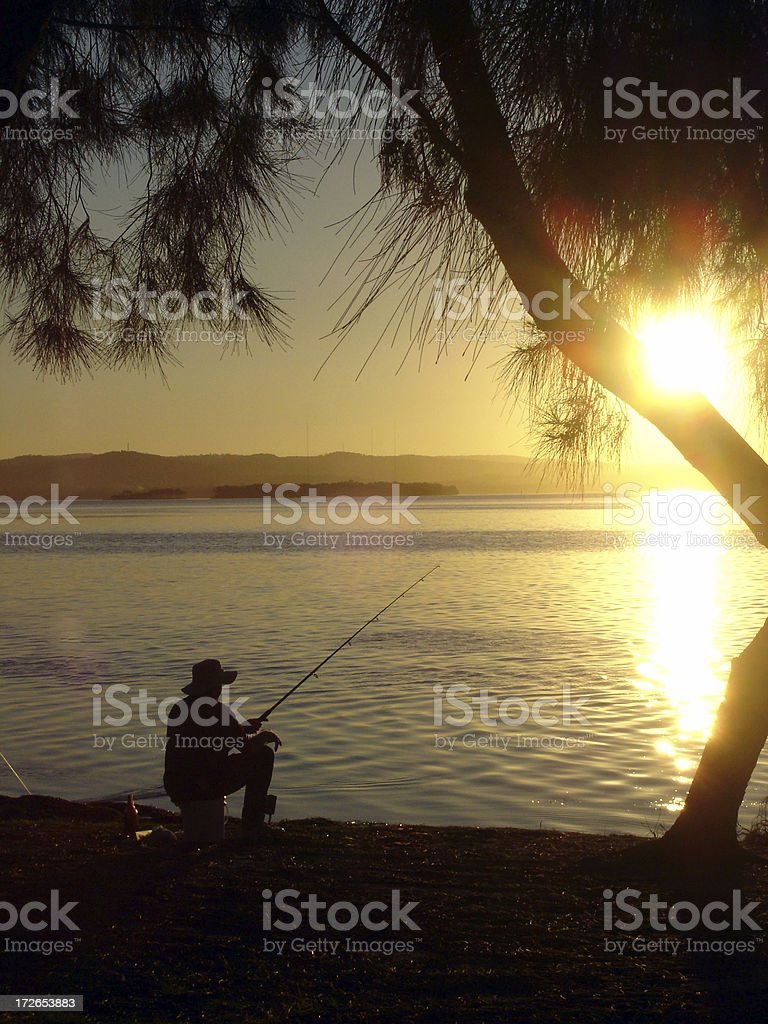 Evening Fisher royalty-free stock photo