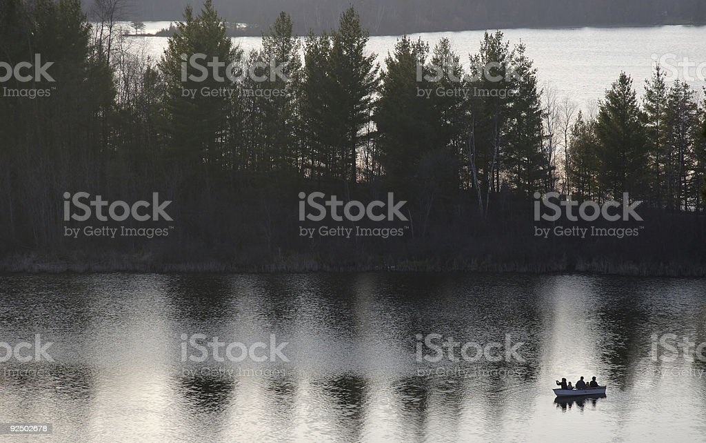 Evening Fishing royalty-free stock photo