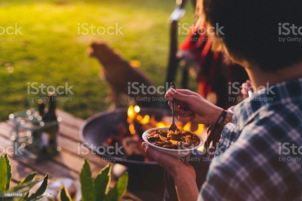 Evening Garden Party stock photo