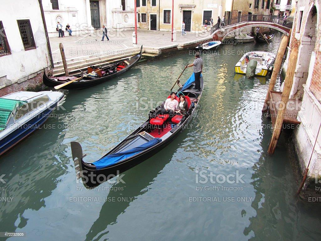 Evening Gondola Ride in Venice stock photo