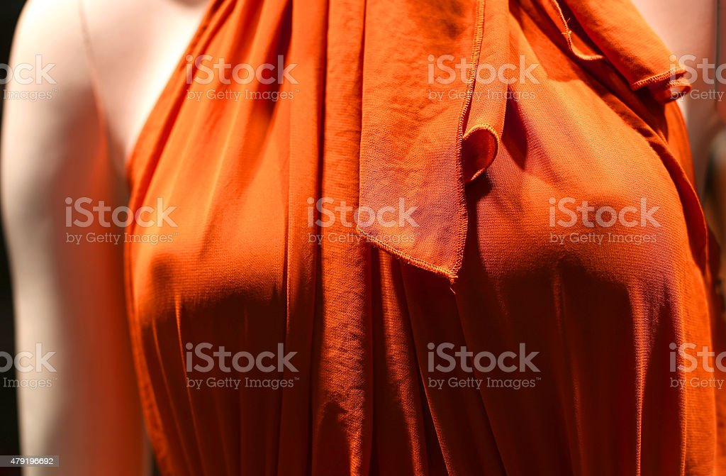 evening gown that makes women see female forms stock photo