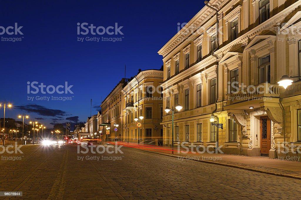 Sera di Helsinki foto stock royalty-free