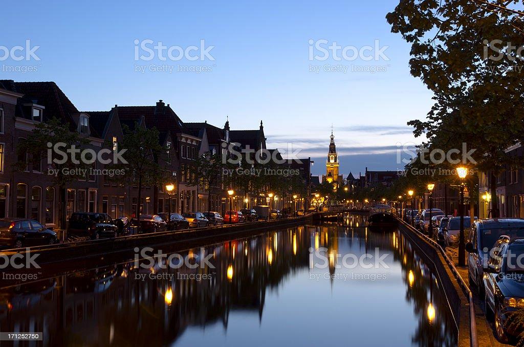 Evening hours in Alkmaar stock photo