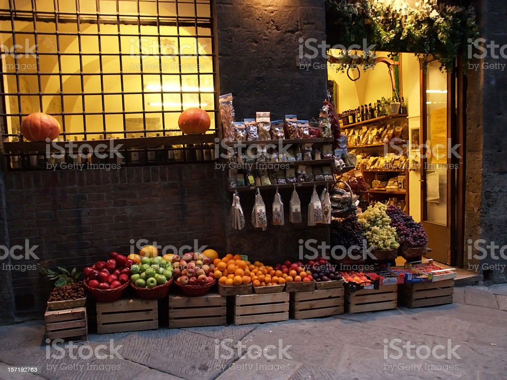 Evening in a little town royalty-free stock photo