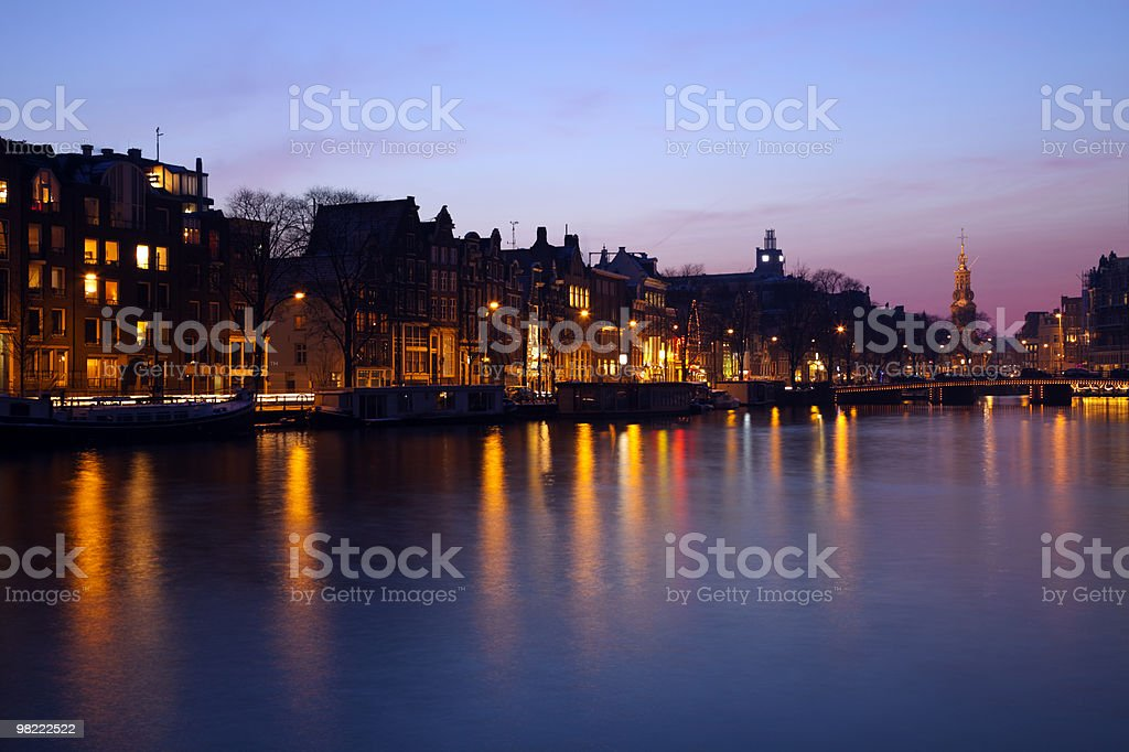 Evening in Amsterdam royalty-free stock photo
