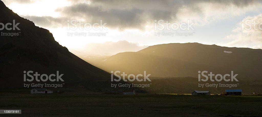 Evening In Arnarstapi, Iceland royalty-free stock photo