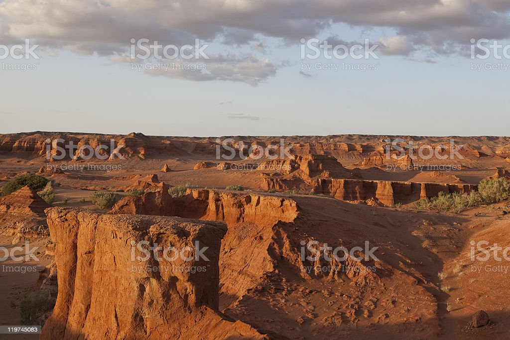 Evening in canyons royalty-free stock photo