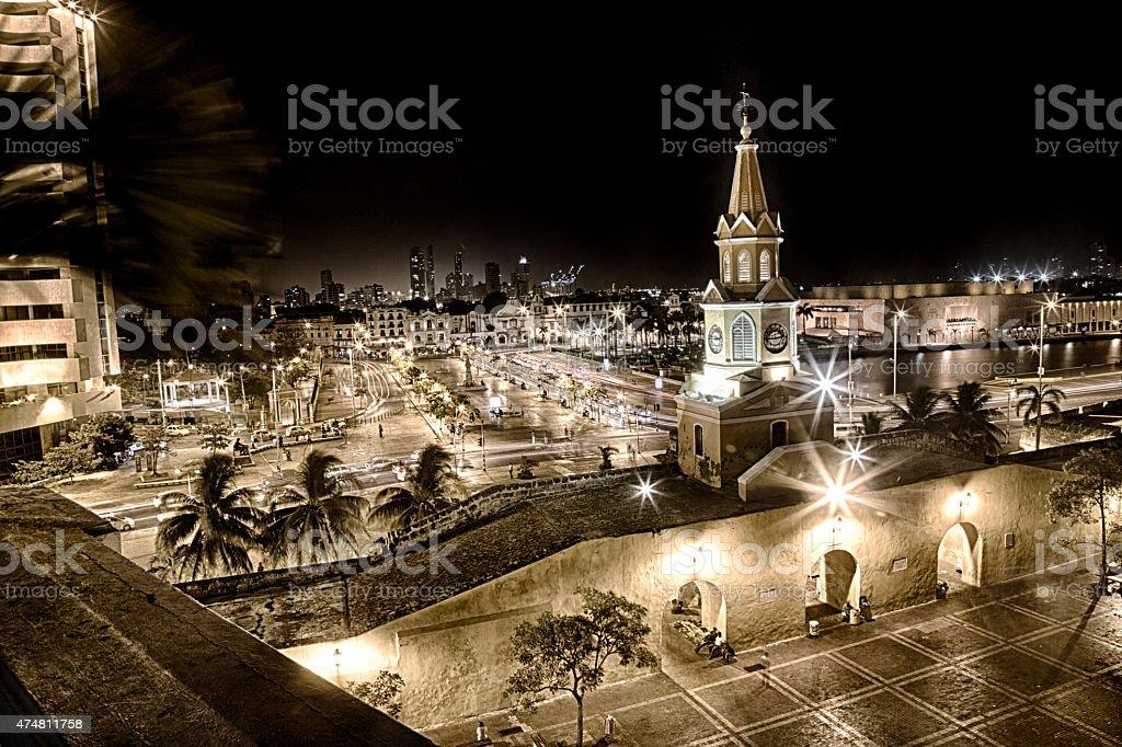 Evening in Cartagena stock photo