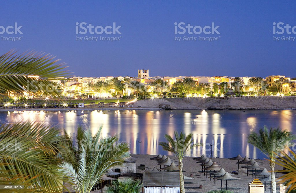 evening in egypt stock photo