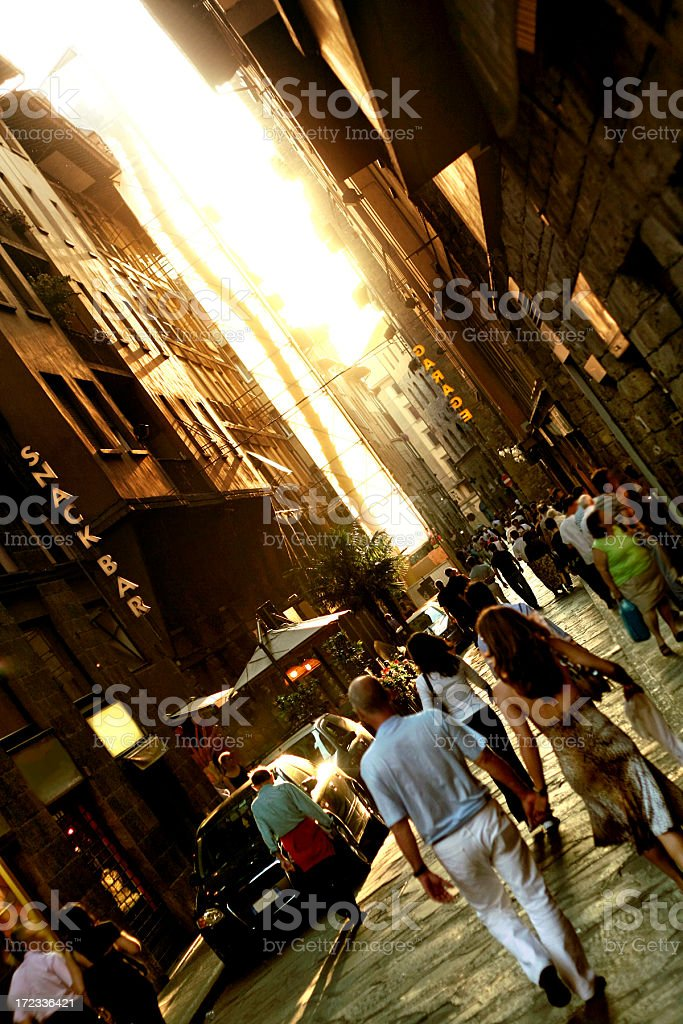 Evening in Florence royalty-free stock photo