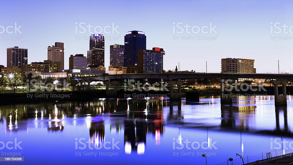 Evening in Little Rock stock photo