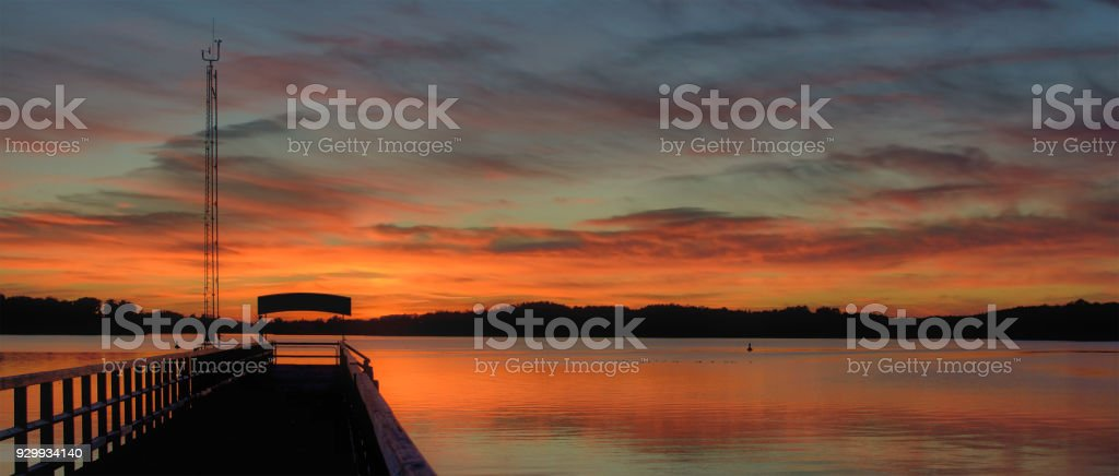 Evening in mecklenburg Lake District,Germany stock photo