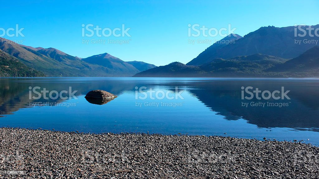 Evening in Patagonia - Argentina stock photo