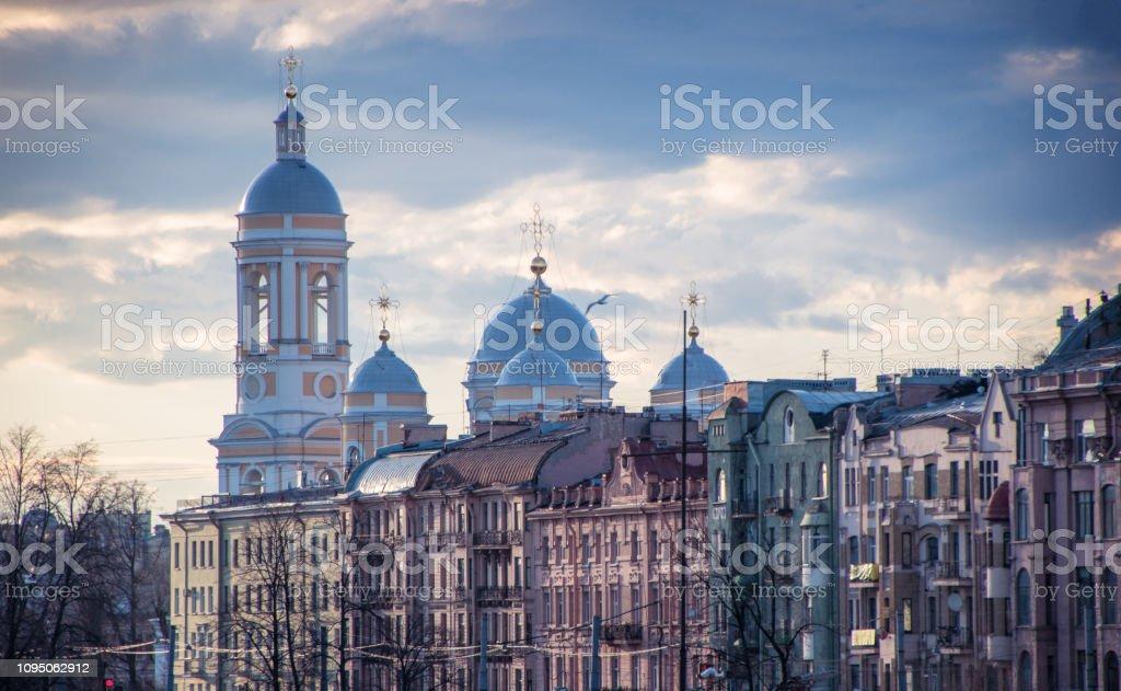 Evening in Saint Petersburg, Russia stock photo