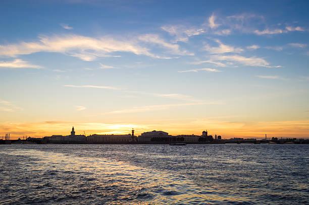 Evening in St. Petersburg, Russia stock photo