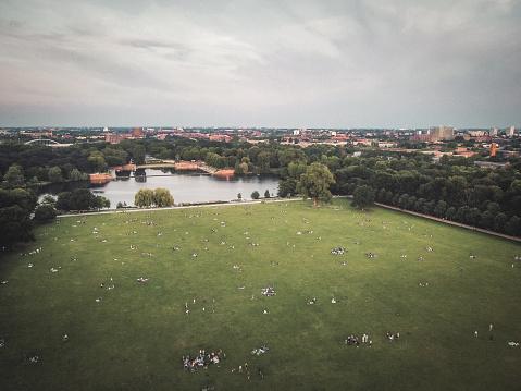 Evening in Stadtpark Hamburg