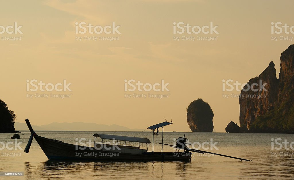 Evening in Thailand royalty-free stock photo