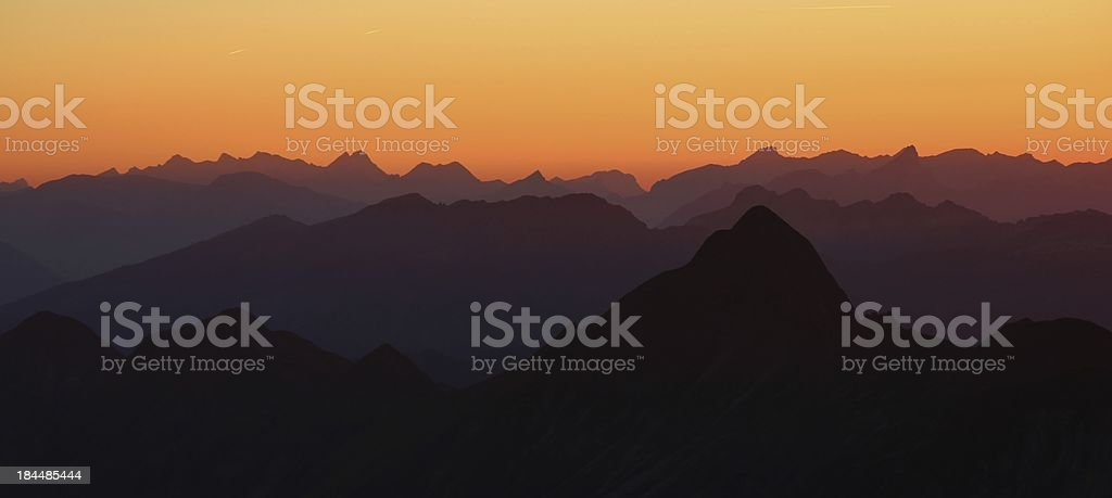 Evening in the Bernese Oberland royalty-free stock photo