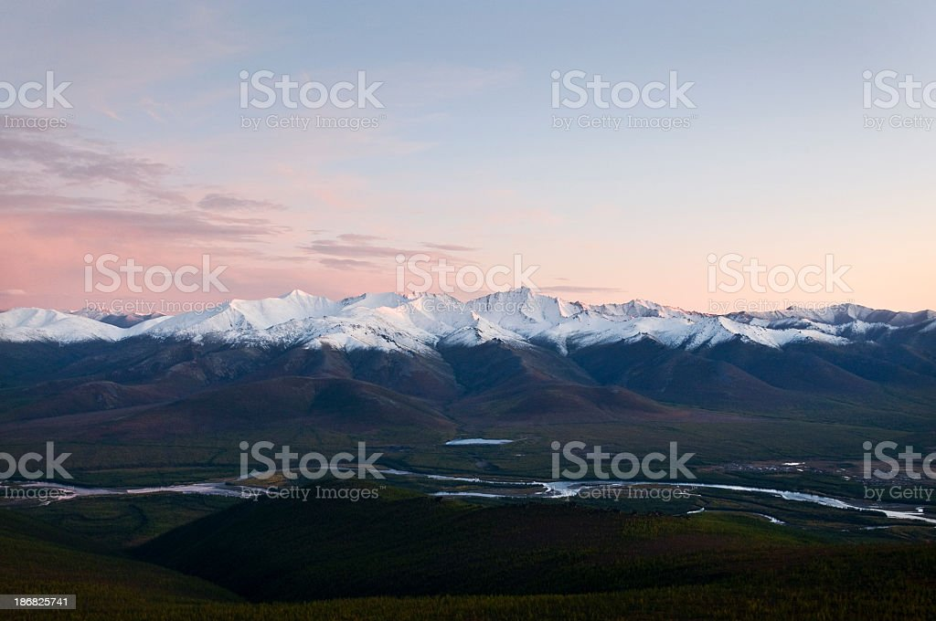 Evening in the mountains royalty-free stock photo