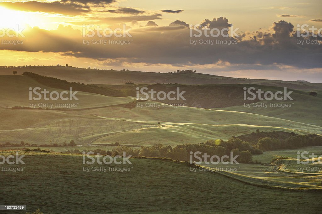 Evening in Tuscany royalty-free stock photo