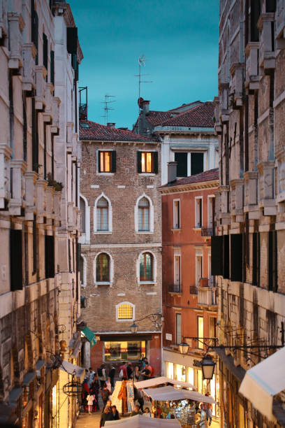 Evening in Venice Italy stock photo