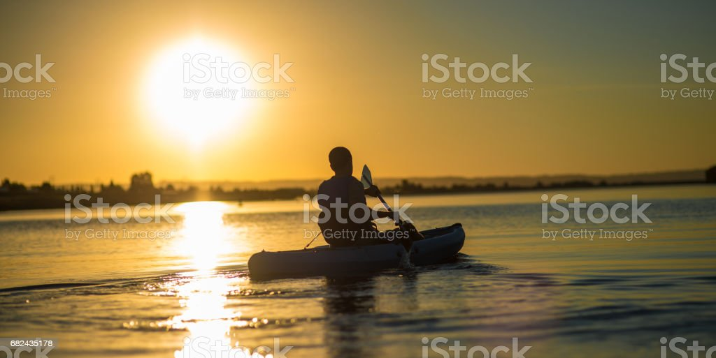 Evening Kayaker royalty-free stock photo