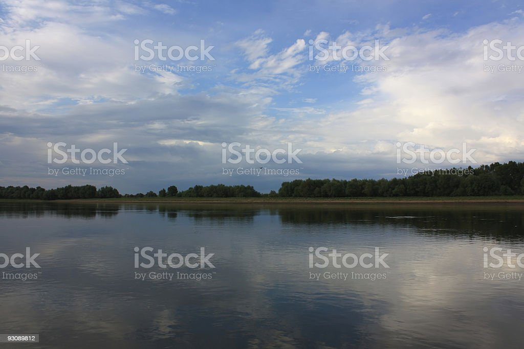Evening kind from river royalty-free stock photo