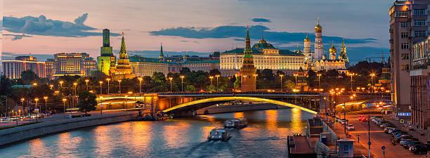 Evening Kremlin stock photo