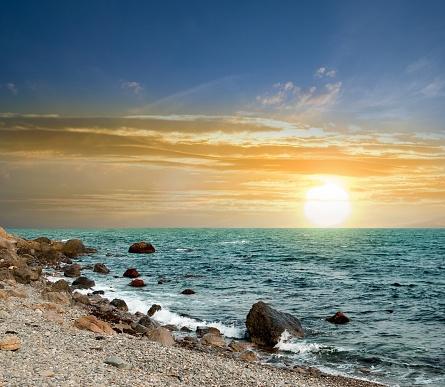 evening landscape at the seaside