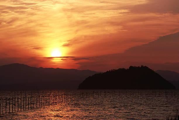 Biwa の湖の風景 ストックフォト
