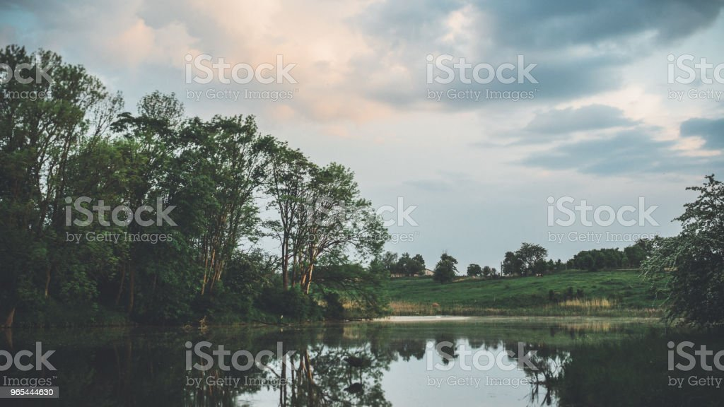 Evening light by the water royalty-free stock photo
