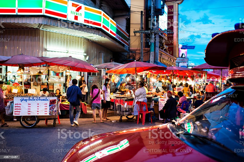 Evening Market Chiang Mai stock photo