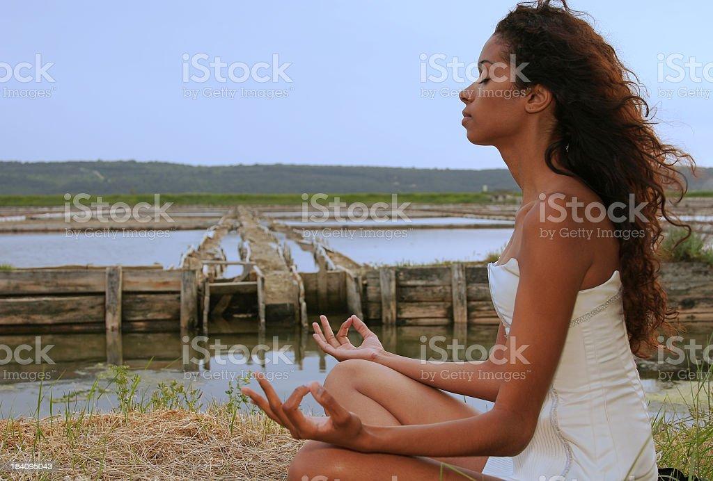 Evening Meditation royalty-free stock photo