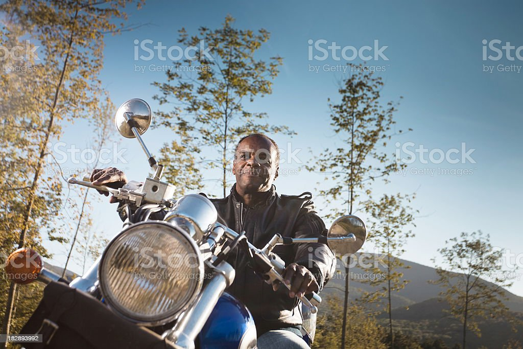 Evening Motorcycle Ride stock photo