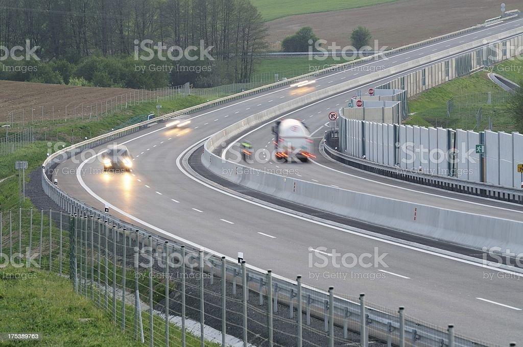 Evening motorway royalty-free stock photo