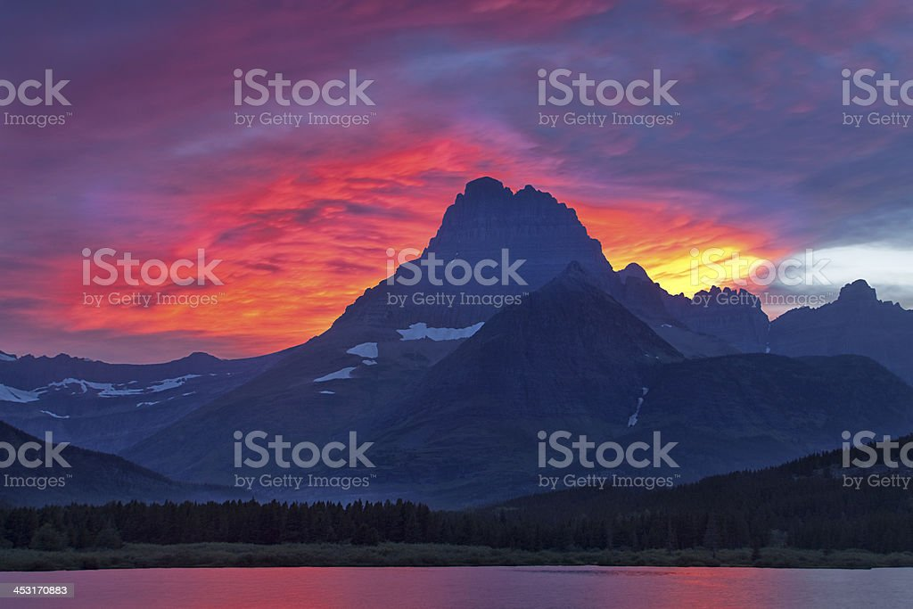 Evening Mountain Drama stock photo