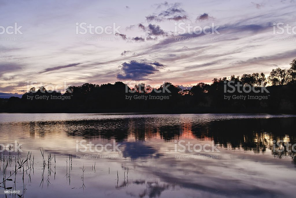 Evening on a lake royalty-free stock photo